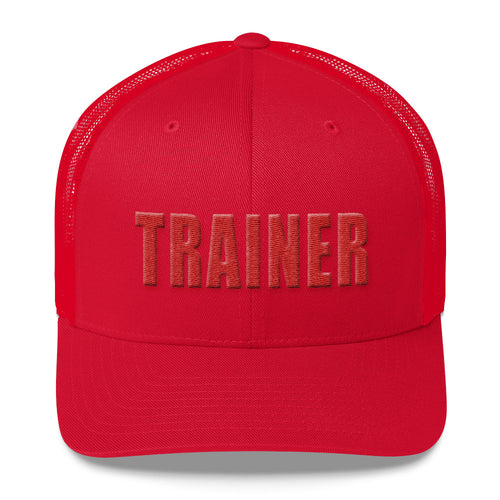 Personal Trainer Red Trucker Hat