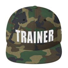 Load image into Gallery viewer, Personal Trainer Camouflage Snapback Hat