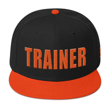 Load image into Gallery viewer, Personal Trainer Black and Orange Snapback Otto Hat