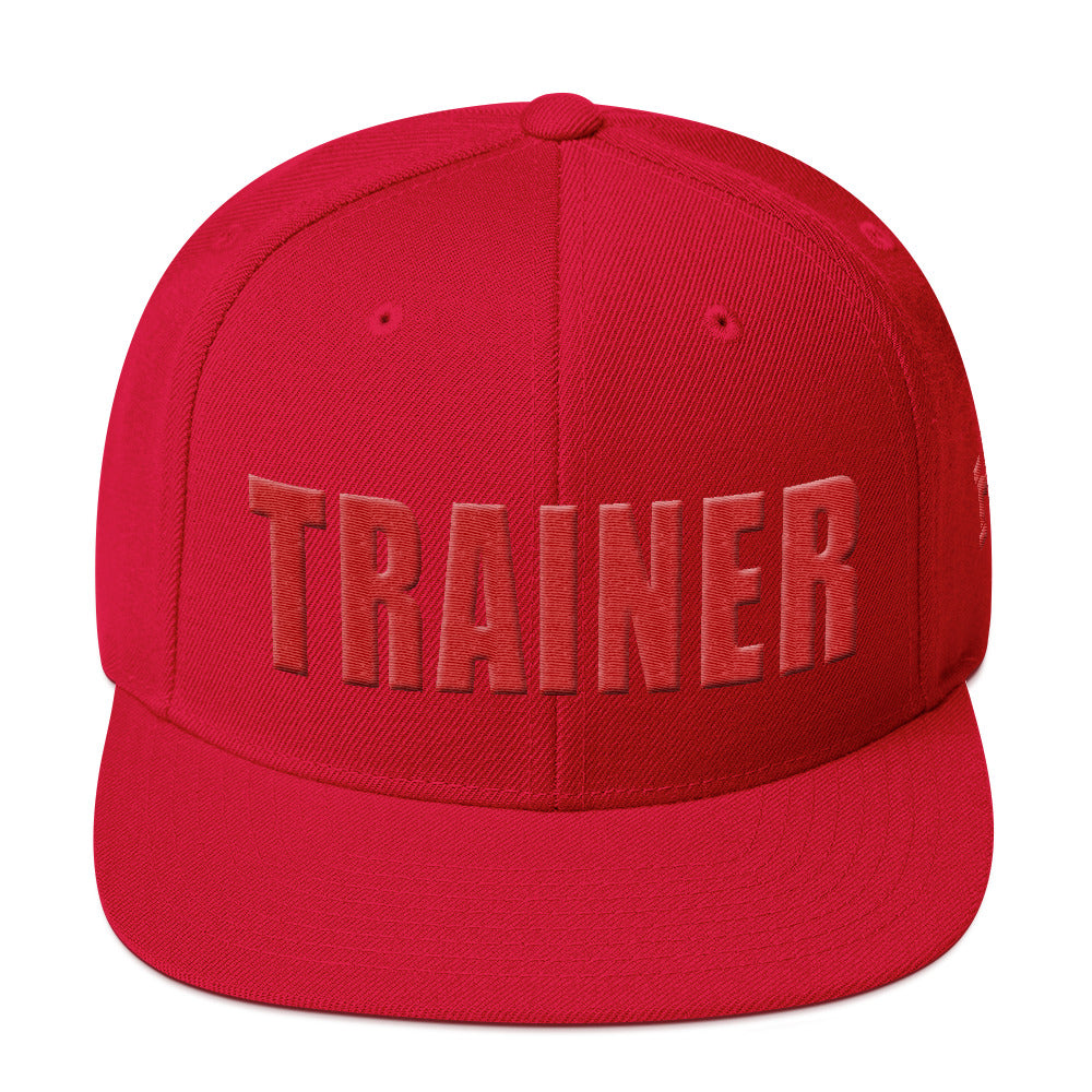 Personal Trainer Red Snapback Hat