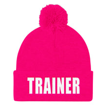 Load image into Gallery viewer, Personal Trainer Pom Pom Knit Cap