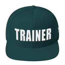 Load image into Gallery viewer, Personal Trainer Snapback Hat (Solid Colors)