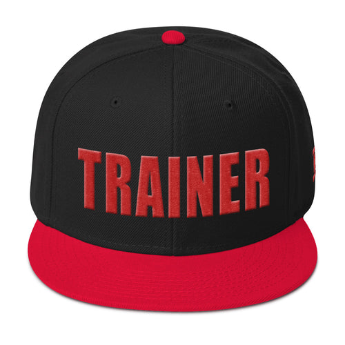 Personal Trainer Black and Red Snapback Otto Hat