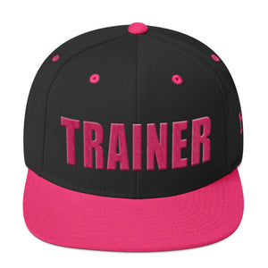 Personal Trainer Snapback Hat Black With Pink Trim