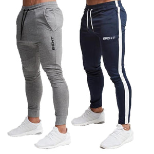 Men's Fitness Casual Elastic Pants bodybuilding clothing