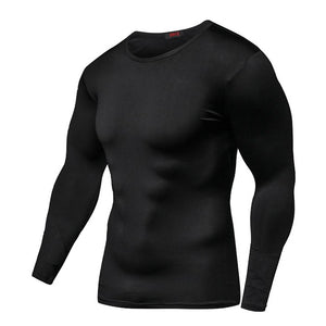 Quick Dry Bodybuilding Compression Shirt Long Sleeve