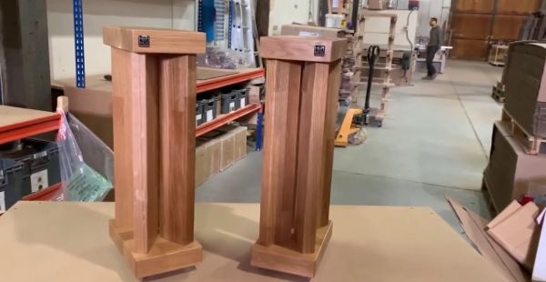 X50 Speaker Stands in Solid Oak: In the Workshop with Hi Fi Racks