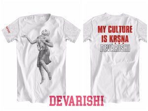 DEVARISHI 'My Culture is KRISHNA' T-Shirt