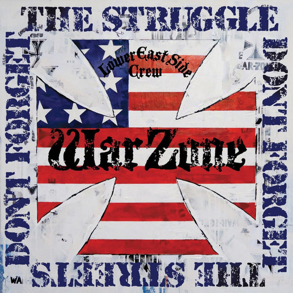 WARZONE 'Don't Forget The Struggle Don't Forget The Streets' LP / BLUE & RED EDITION