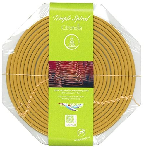 TEMPLE SPIRAL 'Citronella' Incense Coil