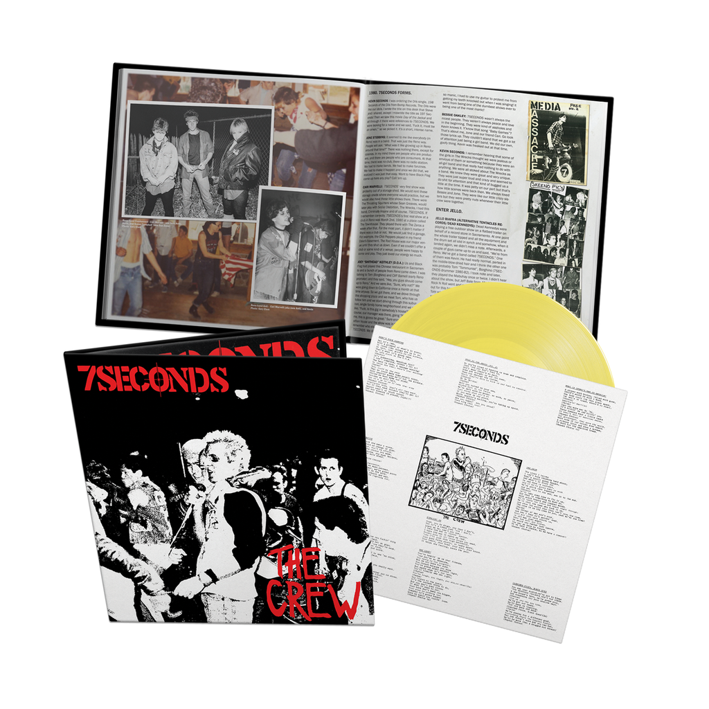 PRE-ORDER: 7 SECONDS 'The Crew: Deluxe Edition' LP / YELLOW REV EXCLUSIVE!