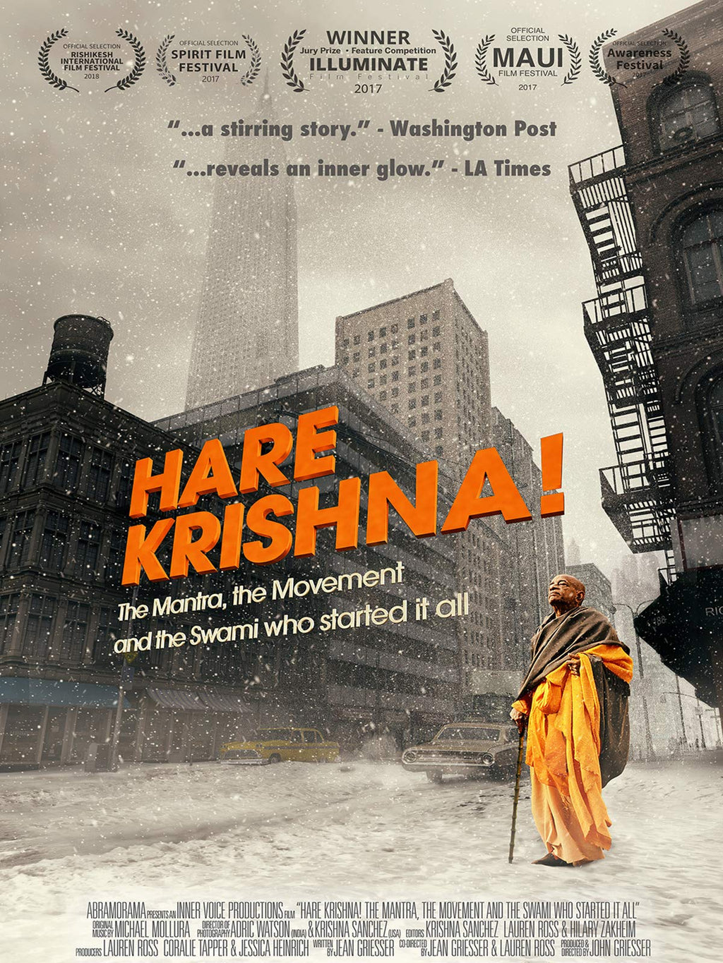'HARE KRISHNA!: The Mantra, the Movement and the Swami who started it all' Documentary Film - DVD