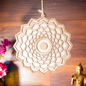 SAHASRARA 'Crown Chakra' Symbol - Wooden Wall Decoration