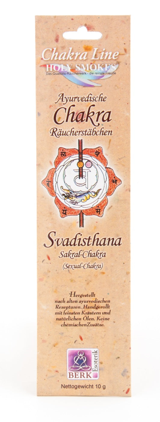 AYURVEDIC CHAKRA 'Svadisthana / Sacral' Incense Sticks