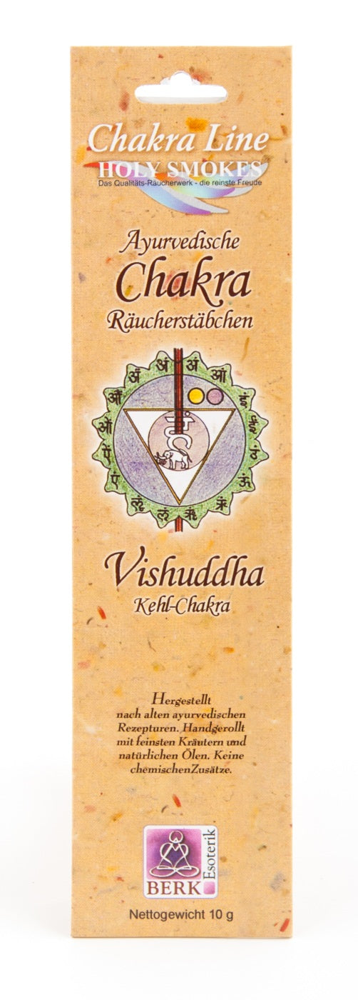 AYURVEDIC CHAKRA 'Vishuddha / Throat' Incense Sticks