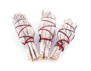 WHITE 'INDIAN SAGE' - Smudge Stick