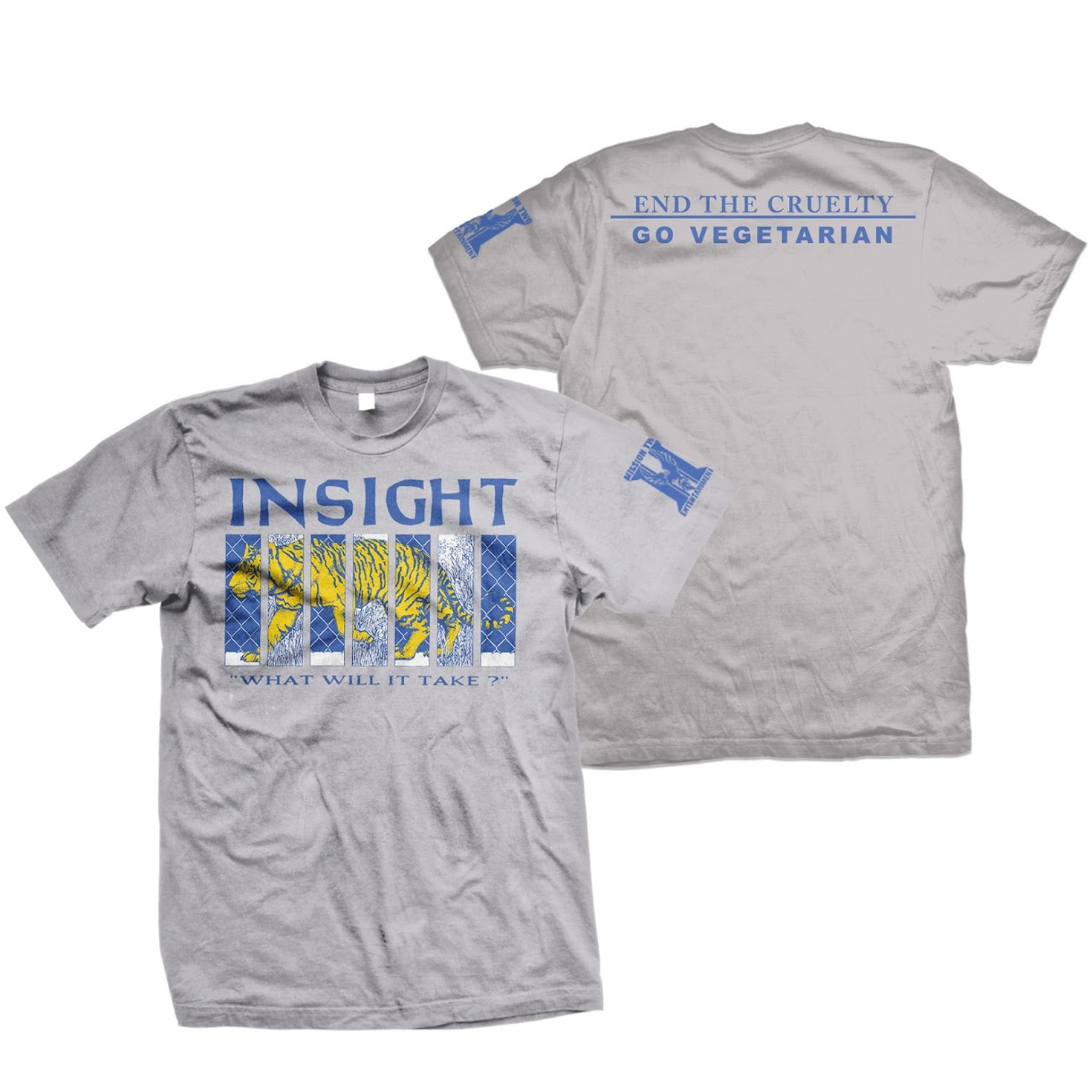 INSIGHT 'End The Cruelty' T-Shirt, sports grey