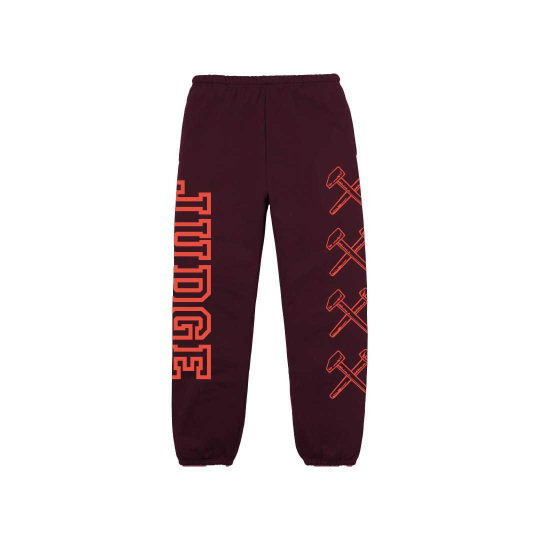 JUDGE 'Logo' Sweatpants / MAROON