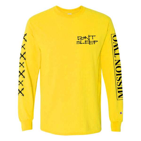 PRE-ORDER: DON'T SLEEP 'Logo' Longsleeve (Champion)