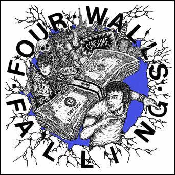 "FOUR WALLS FALLING 's/t' 7"" / GOLD EDITION"