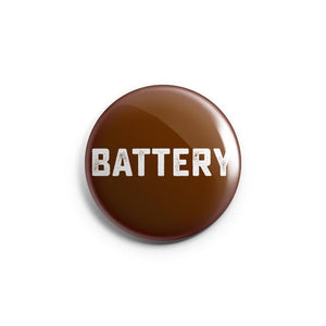 BATTERY 'Maroon' Button