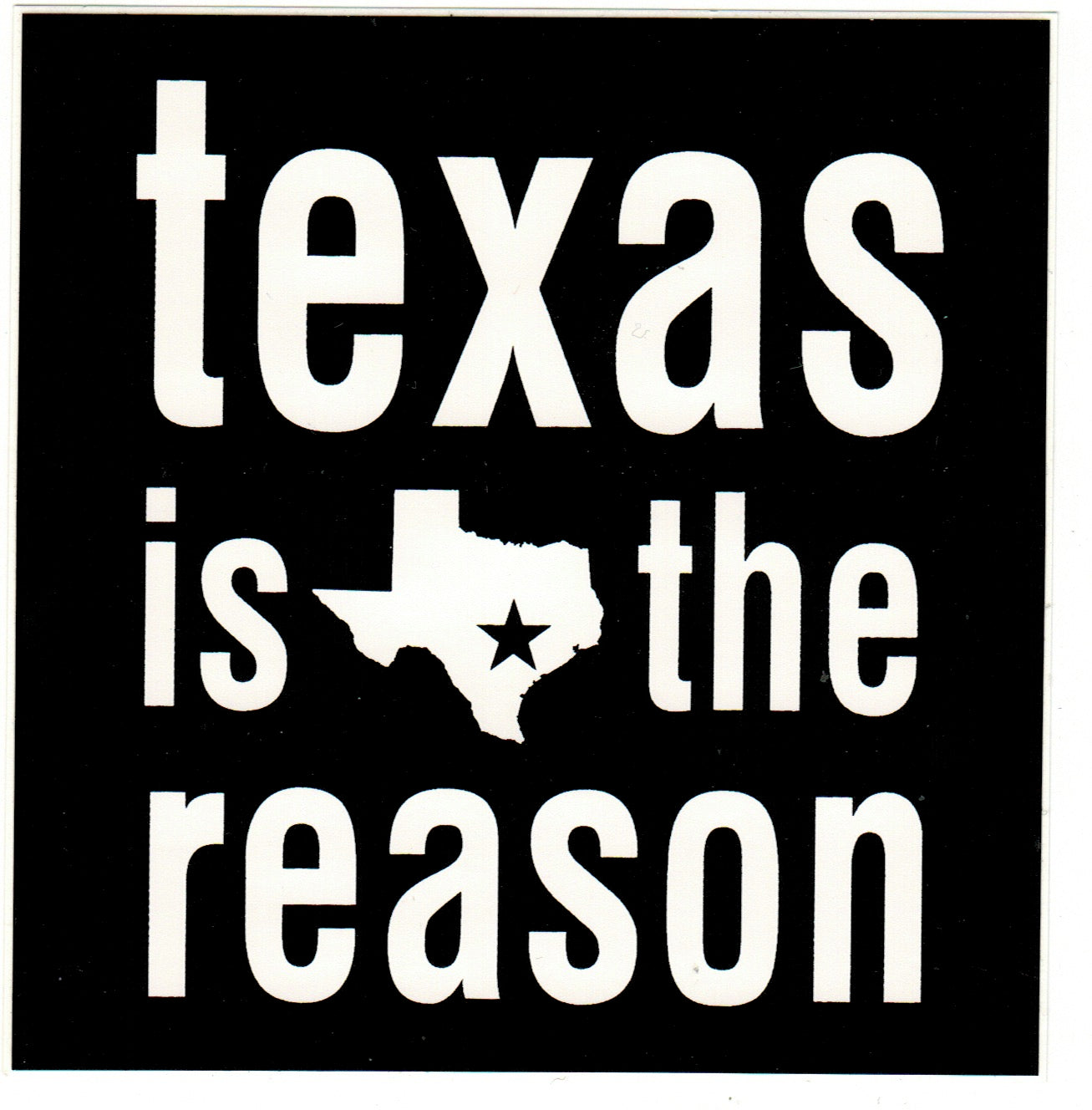 TEXAS IS THE REASON 'Logo' Sticker