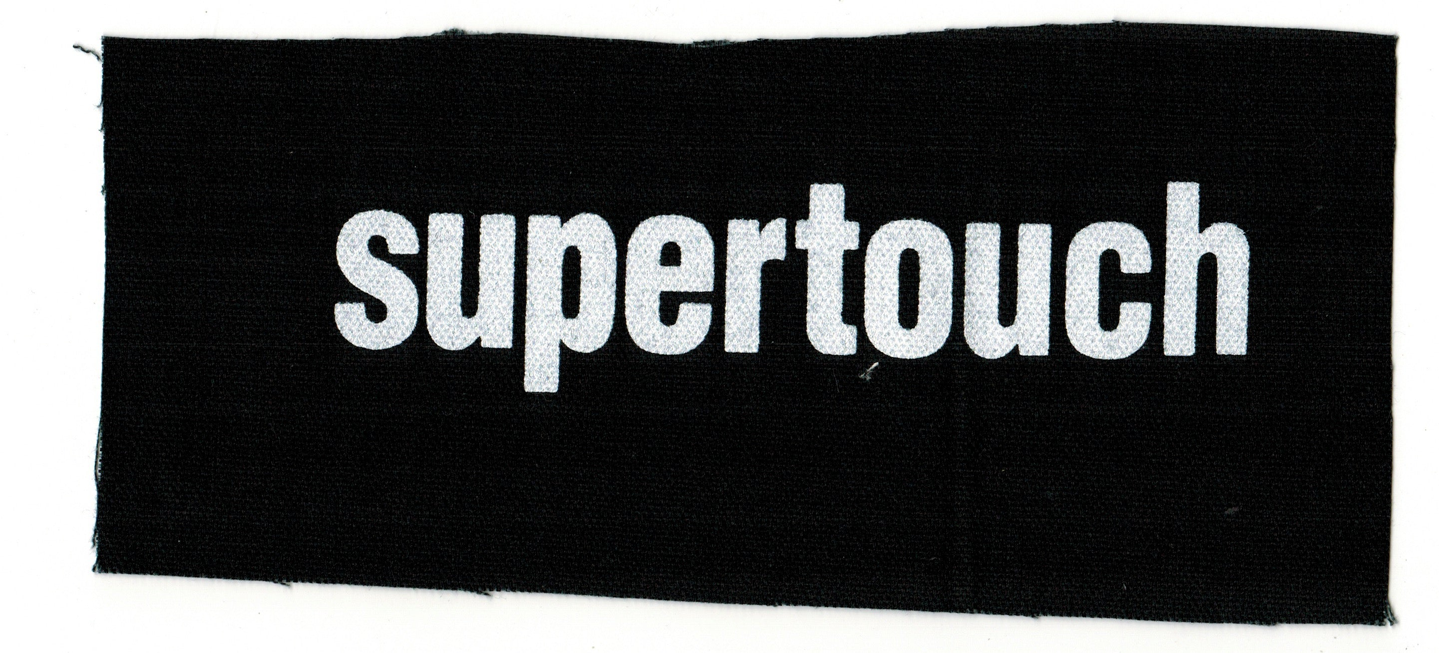 SUPERTOUCH 'black' Screenprinted Patch