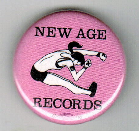 NEW AGE RECORDS 'Edge Girl' Button