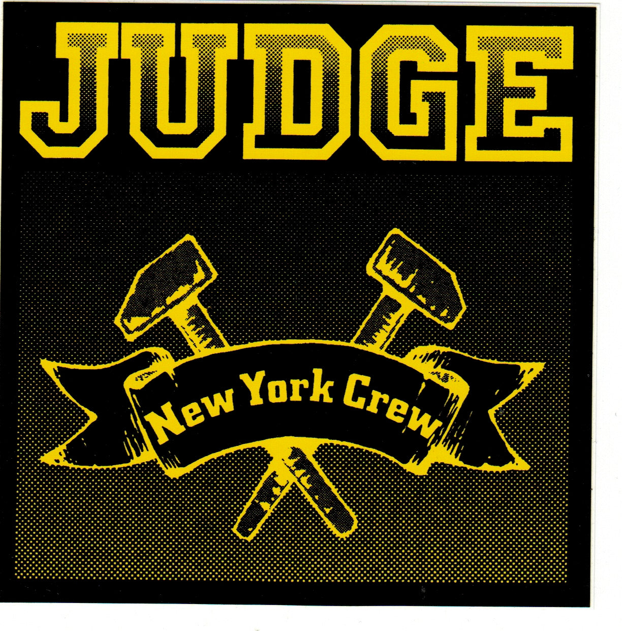 JUDGE 'New York Crew - black yellow' Sticker