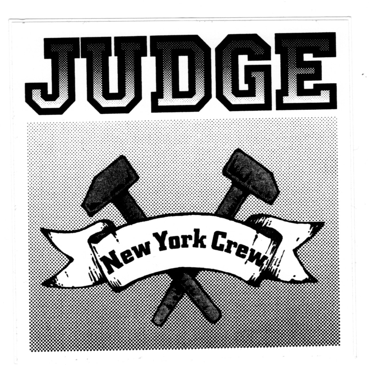 JUDGE 'New York Crew - black white' Sticker