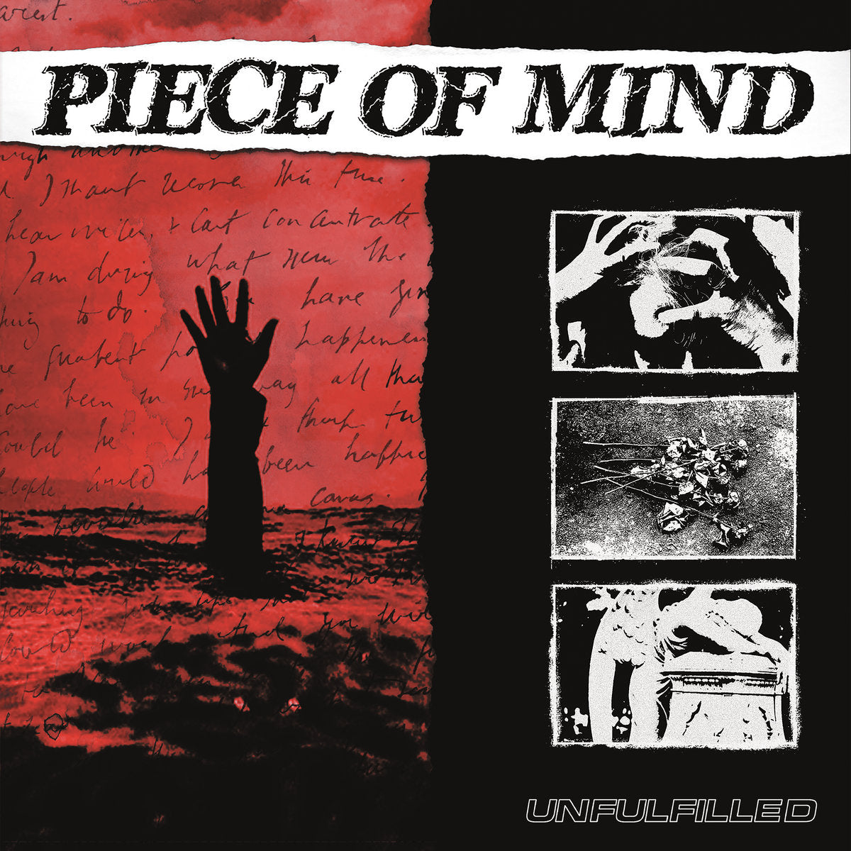 "PIECE OF MIND 'Unfulfilled' 12"" / ORANGE & RED MARBLE EDITION"
