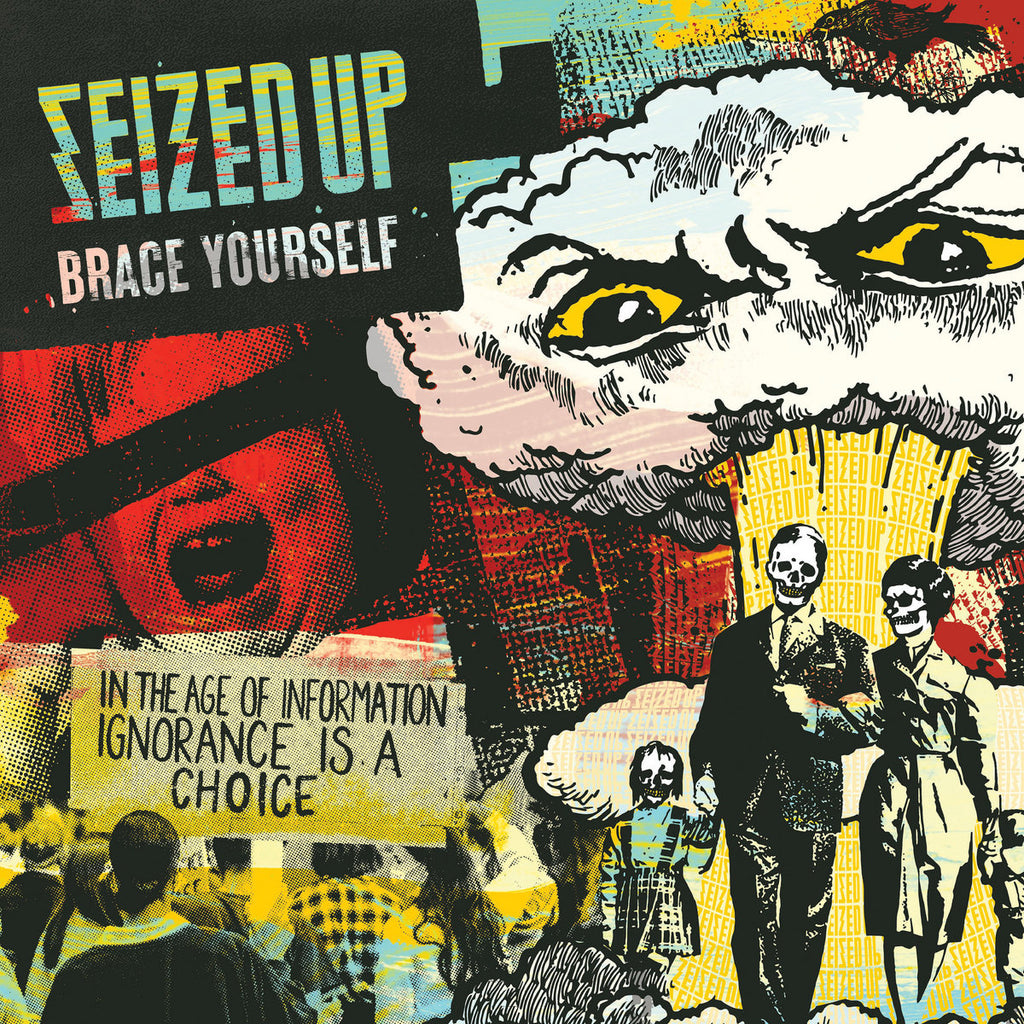 SEIZED UP 'Brace Yourself' LP / CLEAR WITH COLOR SPLATTER EDITION