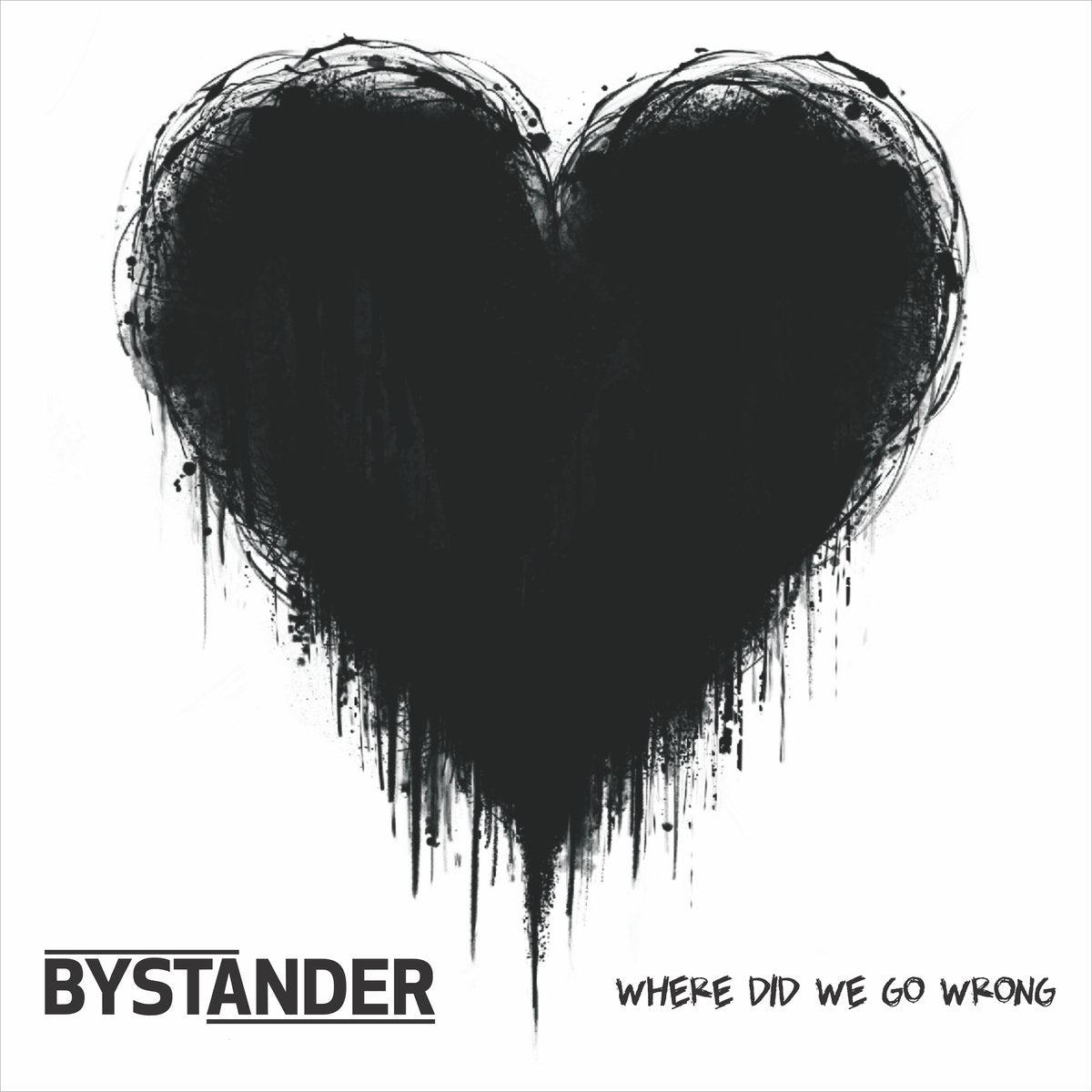 BYSTANDER 'Where Did We Go Wrong' LP / WHITE & BLACK MARBLE SPLATTER EDITION