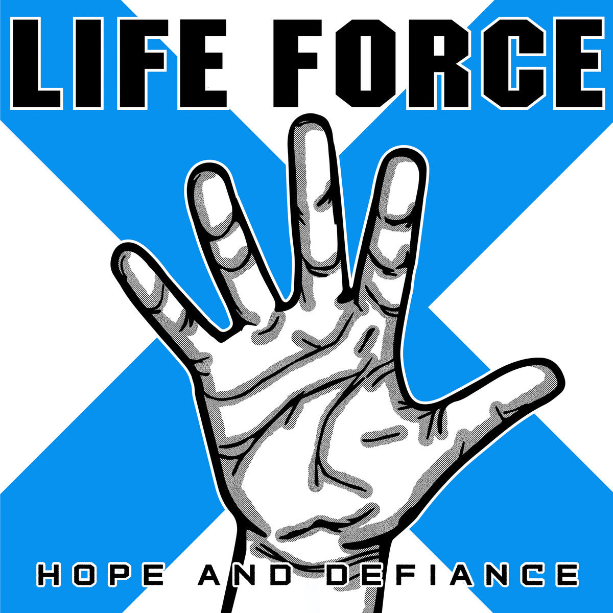 PRE-ORDER: LIFE FORCE 'Hope And Defiance' LP / PURPLE w/WHITE SPLATTER & BLUE/BLACK/WHITE SPLIT EDITIONS!
