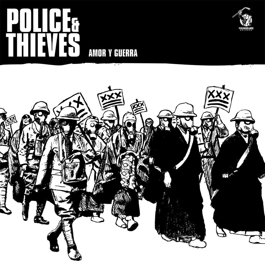 "POLICE & THIEVES 'Amor Y Guerra' 7"" / GREEN EDITION"
