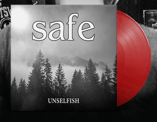 "PRE-ORDER: SAFE 'Unselfish' 7"" / TRANSPARENT RED EDITION"