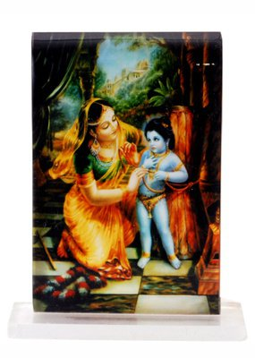 Krishna and Mother Yashoda Acrylic Image Stand
