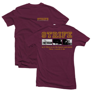 STRIFE 'Lift' T-Shirt / Navy Blue & Vineyard Red available