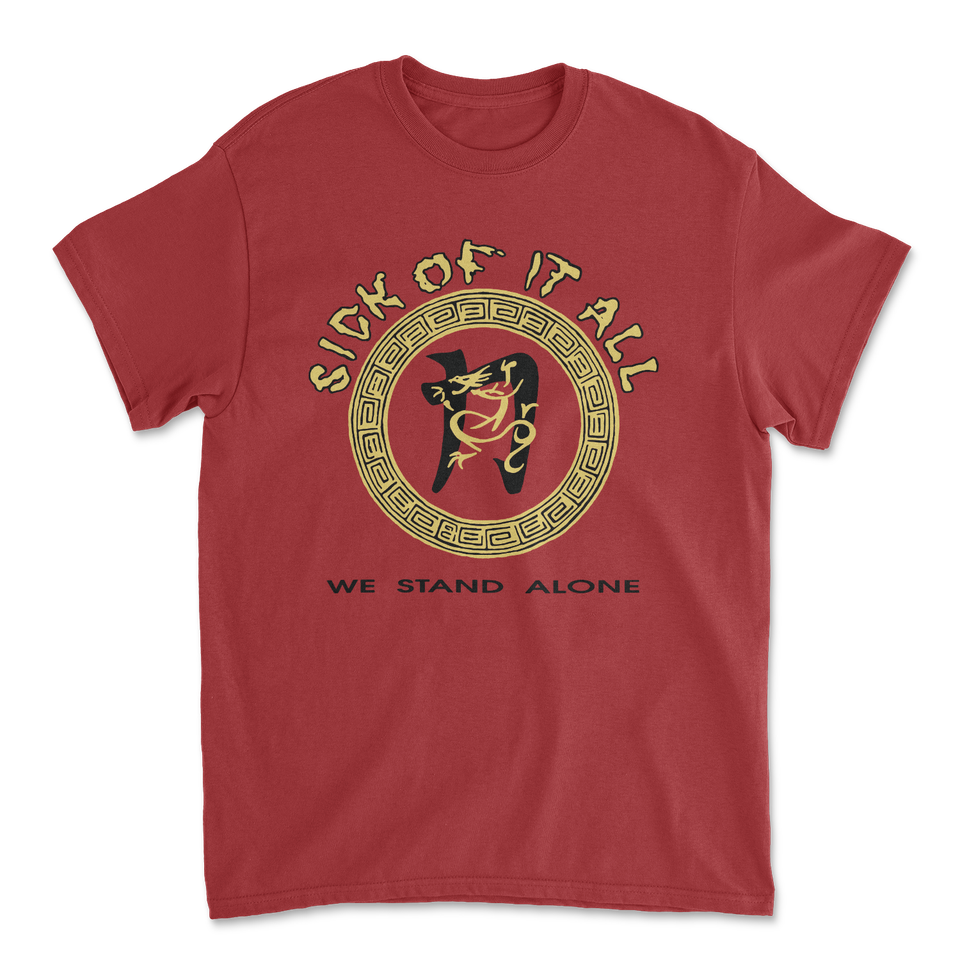 SICK OF IT ALL 'We Stand Alone' T-Shirt / Antique Cherry