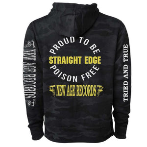 PRE-ORDER: NEW AGE RECORDS 'PROUD TO BE POISON FREE' Hooded Sweatshirt