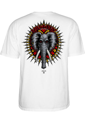 POWELL-PERALTA 'Vallely Elephant' T-Shirt, white