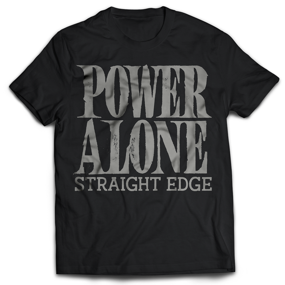 INDECISION RECORDS X POWER ALONE 'Straight Edge' T-Shirt