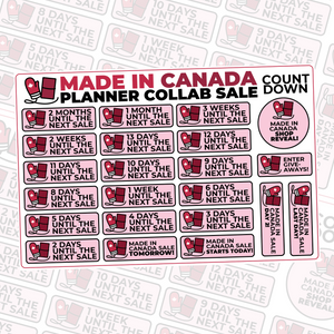 Made In Canada Collab Countdown Stickers