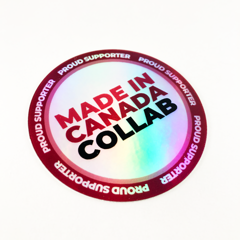 "Made In Canada ""Proud Supporter"" Holo Decal"