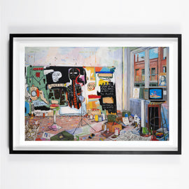 DAMIAN ELWES - 'BASQUIAT'S STUDIO IV; ARTIST PROOFS' ART PRINTS