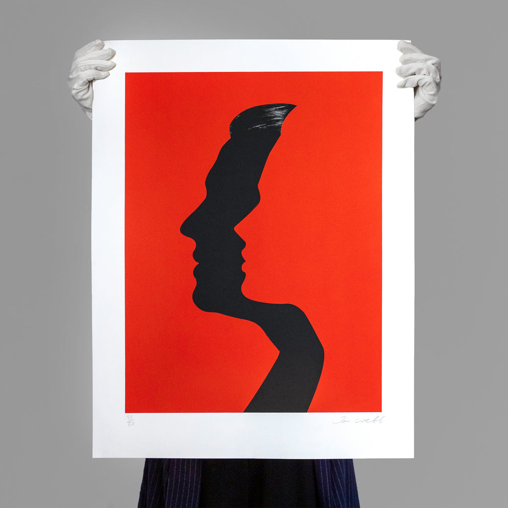 JOE WEBB - 'ECHOES - RED' ART PRINT