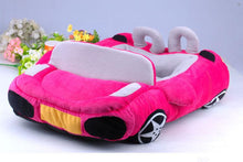 Load image into Gallery viewer, pug swag fast car snuggle bed, for small dog, removeable cover, quality dog bed. pink, orange or yellow.
