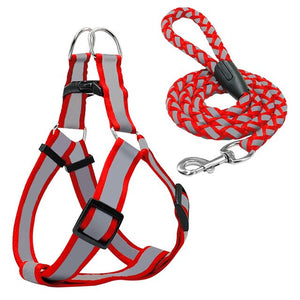 cool reflective pug swag small dog harness red or yellow with lease