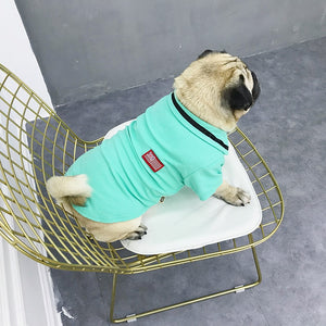 pug swag club tee / t-shirt for small dogs the swag polo, in orange, cyan or grey.