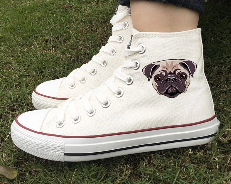 Limited Edition Pug Swag High Top Sneakers